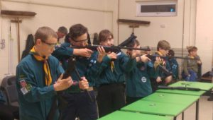 Air rifle troop night for scouts
